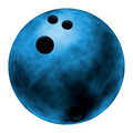 Blue bowling ball Royalty Free Stock Photography