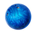Blue bowling ball isolated on white Stock Photos