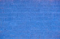 Blue brick background Royalty Free Stock Photo