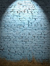 Blue brick wall Royalty Free Stock Images