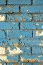 Blue Brick Wall Royalty Free Stock Photo