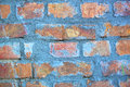 Blue brick wall for background Stock Photography