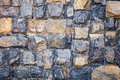 Blue brick walls built of large stones, blue stones Royalty Free Stock Photo
