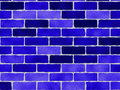Blue Bricks Pattern Royalty Free Stock Photography