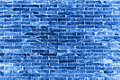 The blue bricks wall Royalty Free Stock Photo