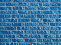 Blue brickwall background. Royalty Free Stock Photo