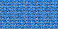 Blue brickwork seamless pattern. Stock Photography