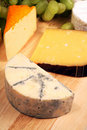 Blue Brie cheeseboard Royalty Free Stock Photos