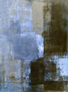 Blue And Brown Abstract Art Pa...