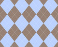Blue and brown argyle Stock Photography