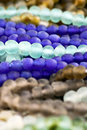 Blue and Brown Beads Stock Images