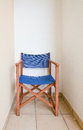Blue brown directors chair Royalty Free Stock Photo