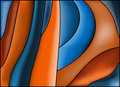 Blue brown and orange background Royalty Free Stock Image