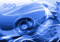 Blue browser header for web site Royalty Free Stock Images