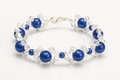 Blue bubbles bracelet with swarovski crystals Royalty Free Stock Photo