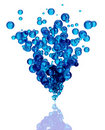 Blue bubbles group. Stock Images