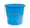 Blue bucket plastic isolated on white Royalty Free Stock Photo