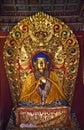 Blue Buddha Buddhist Temple Beijing Stock Photography