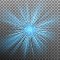 Blue burst color forces light. EPS 10 vector Royalty Free Stock Photo