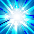 Blue burst with lots of arrows out from center for abstract  design background concept Royalty Free Stock Photo