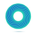 Blue business abstract circle icon for your design. Vector.