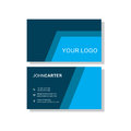 Blue business card Royalty Free Stock Photo