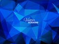 Blue business triangular background card for your presentation Stock Photos