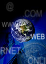 Blue business worldwide Stock Photography