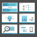 Blue Businessman Infographic elements icon presentation template flat design set for advertising marketing brochure flyer Royalty Free Stock Photo