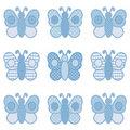 Blue Butterflies Royalty Free Stock Photos