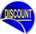 Blue Button Discount Royalty Free Stock Photo