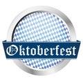 blue button Oktoberfest Royalty Free Stock Photo