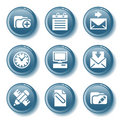 Blue button set 27 Royalty Free Stock Image