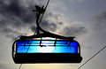 Blue cableway