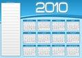 Blue calendar  1010 Royalty Free Stock Photo