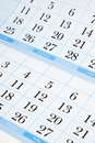 Blue calendar Royalty Free Stock Photography