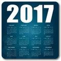 Blue calendar 2017