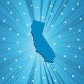 Blue California map Royalty Free Stock Image