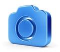 Blue camera icon Royalty Free Stock Photo