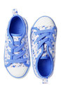 Blue Canvas Shoes Royalty Free Stock Photography