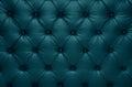 Blue capitone checkered coach leather decoration