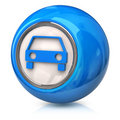 Blue car icon Royalty Free Stock Image