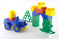Blue car mechanical plastic toy front color gate Royalty Free Stock Images