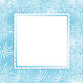 Blue card for invitation with bow and ribbons Stock Image