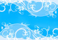 Blue card with pattern. Royalty Free Stock Photo