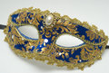 Blue carnival mask Royalty Free Stock Photo