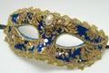 Blue carnival mask Royalty Free Stock Photo