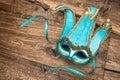 Blue Carnival Mask Harlequin. ...