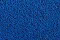 Blue carpet background, Blue plastic doormat texture and backgro Royalty Free Stock Photo