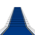 Blue carpet with guard clipping mask mesh Royalty Free Stock Photography